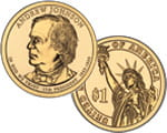 1 $ Prezydenci USA - Andrew Johnson 2011 P