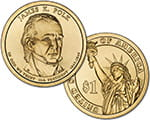 1 $ Prezydenci USA - James K. Polk 2009 D