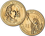 1 $ Prezydenci USA - James Madison 2007 P