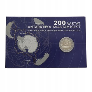 Estonia 2 Euro - Antarktyka 2020 COIN CARD