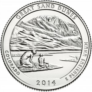 25 c Parki USA Great Sand Dunes Park 2014 D nr 24