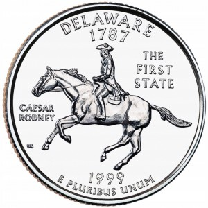 25 c Stany USA Delaware State Quarter 1999 P nr 1