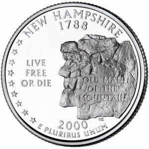 25 c Stany USA New Hampshire State 2000 D nr 9