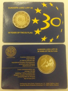 Estonia - 2 Euro - 30 lat Flagi COIN CARD 2015 !!!