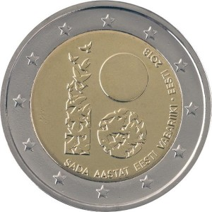 Estonia  2 Euro - 100 lat Republiki Estonii 2018